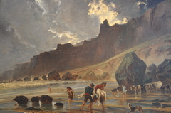 Vue des falaises de Houlgate