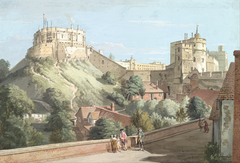 Windsor Castle: The Round Tower, Royal Court and Devil's Tower from the Black Rod