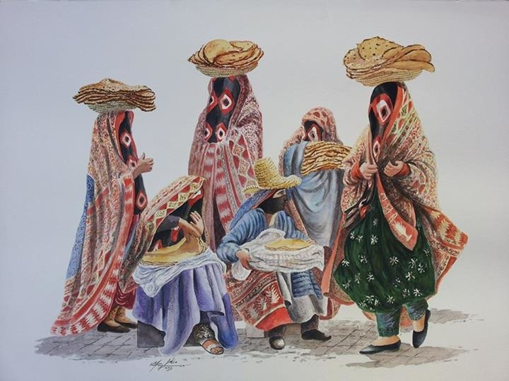 Women selling bread