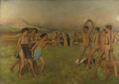 Young Spartans Exercising