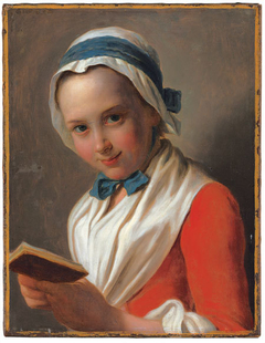"""Young Woman with Bonnet, White Shawl, and Book, known as """"The Virtuous Girl"""""""