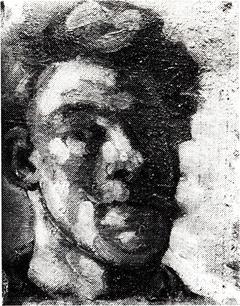 Zelfportret met snor