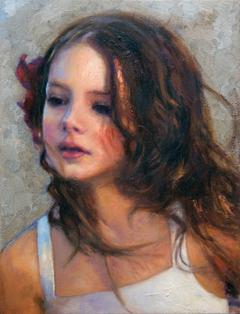«Πορτρέτο κοριτσιού» ,  30 x 40 cm, oil on canvas.