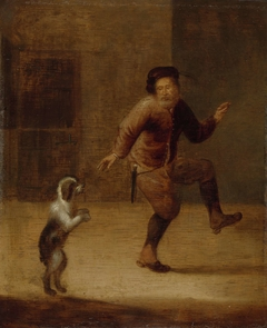 A Man Dancing with a Dog