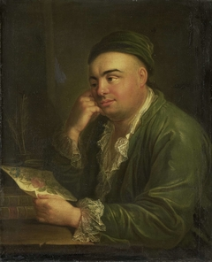 A Man with a Drawing of Flowers, so-called Portrait of Jacob Feitama Jr, Merchant in Amsterdam