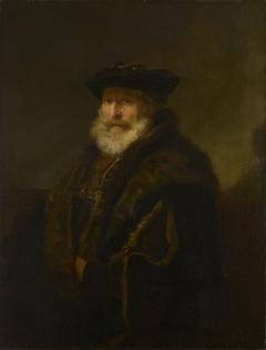 A Rabbi in a Fur Cloak