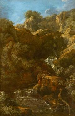 A Waterfall amongst Rocks (possibly Tivoli)