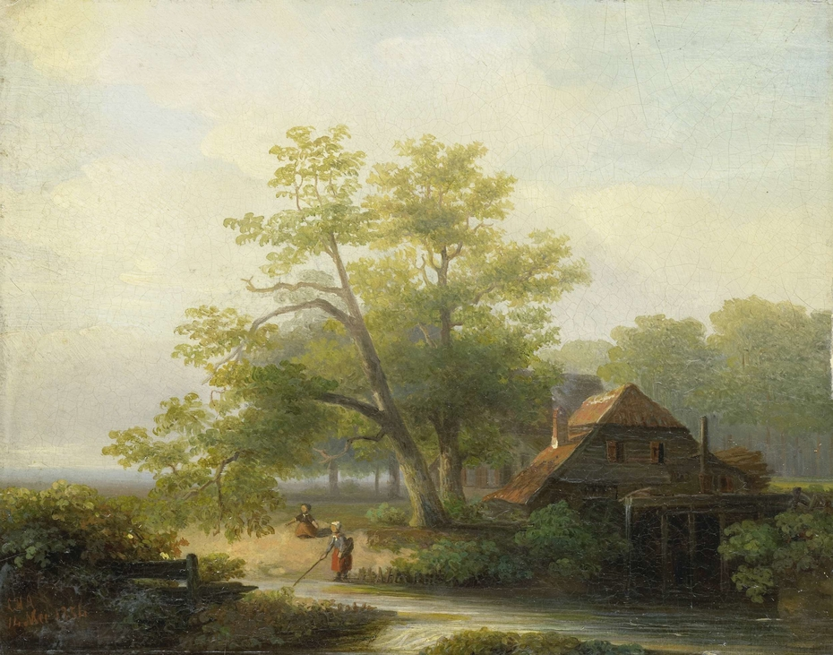 A Watermill in a Woody Landscape