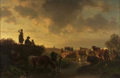 Abend auf der Viehweide