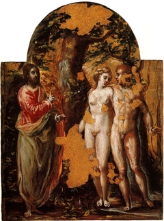 Adam and Eve before God the Father