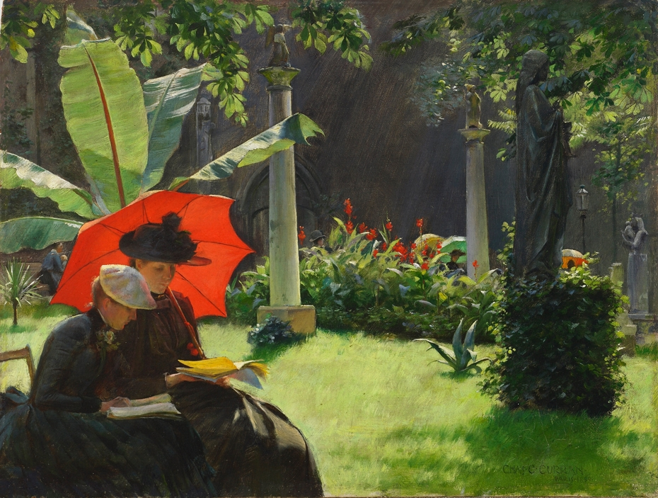 Afternoon in the Cluny Garden, Paris