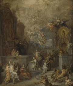 Allegory of the Farewell of William III from Amalia van Solms following the transfer of Regency to the States General