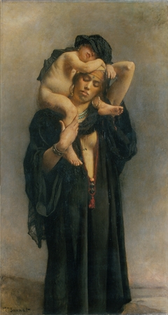An Egyptian Peasant Woman and Her Child