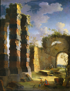 Architectural Capriccio with Figures, Twilight