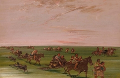 Band of Sioux Moving Camp