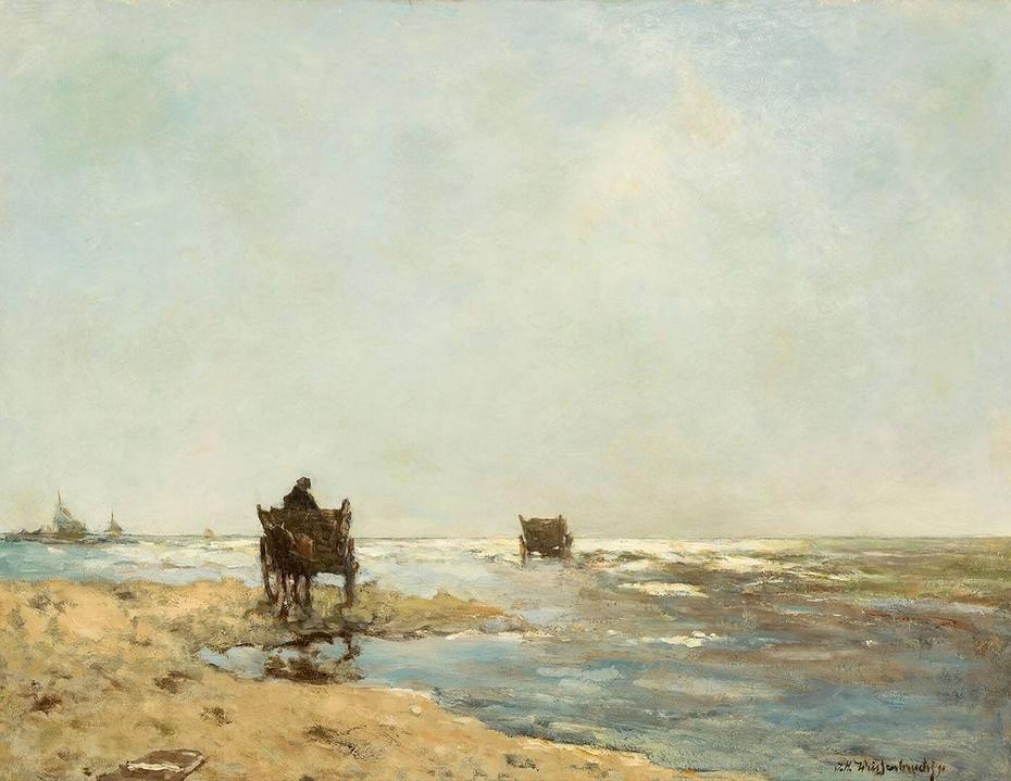 Beach with shelfish gatherers