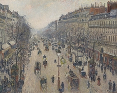 Boulevard Montmartre, morning, cloudy weather - Boulevard Montmartre, matin, temps gris