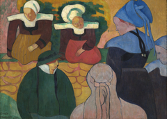 Breton Women at a Wall