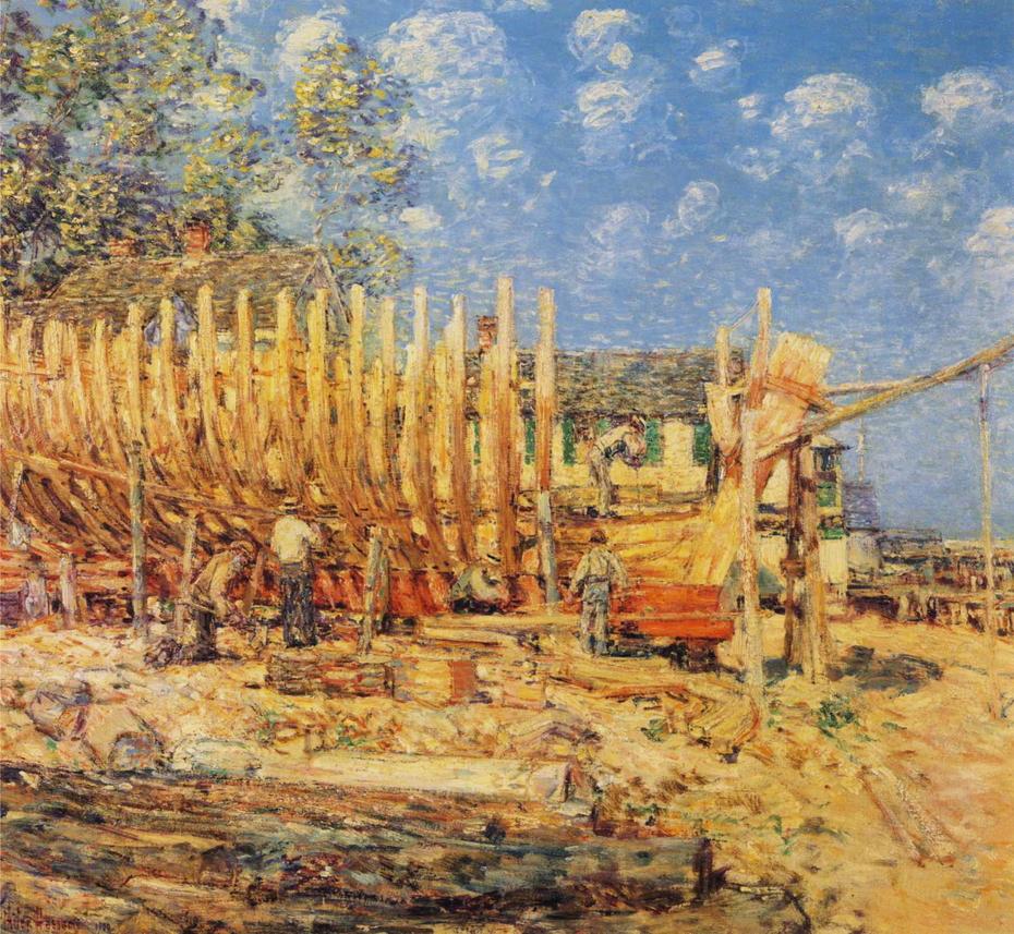 Building the Schooner, Provincetown