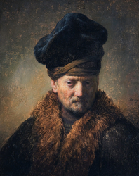 Bust of an Old Man in a Fur Cap