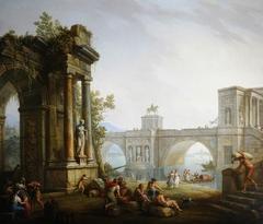 Capriccio with the Ruins of a Triumphal Arch and a Bridge