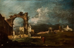 Caprice with Ruins of an Arch and a Villa in the Background, Fantasy View