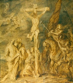 Christ on the Cross with Mary Magdalene and Saints