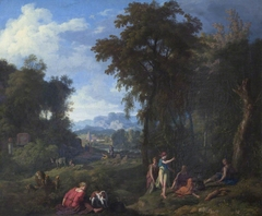 Classical Landscape with Diana and her Nymphs resting after the Chase