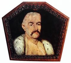 Coffin portrait of unknown man.
