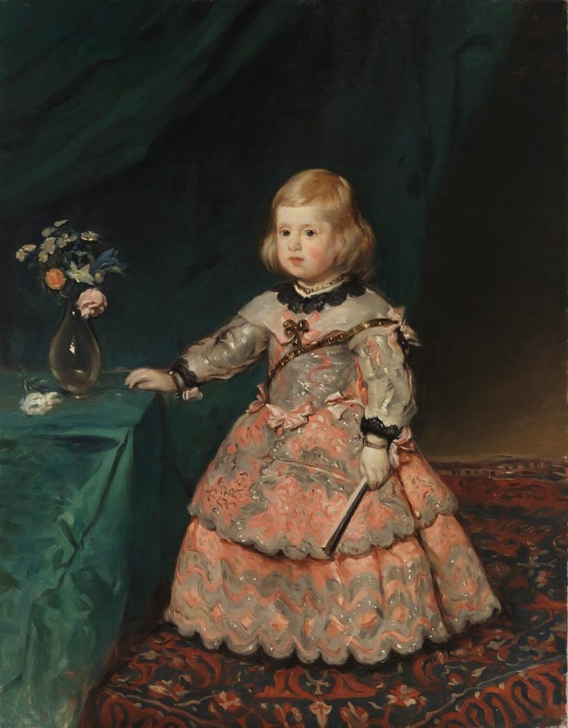 Copy of Velázquez's painting Infantinna Maria Teresia