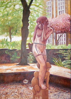 Coy Water Nymph (2008) , oil on linen, 100 x 140 cm