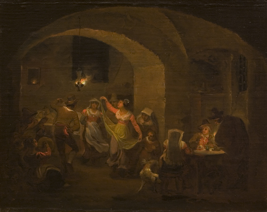 Dancing scene in an Italian Inn