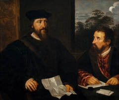 Double Portrait of Georges d'Armagnac, Bishop of Rodez, French Ambassador to Venice, and his Secretary Guillaume Philandrier. Copy after Titian (c.1488-1576)