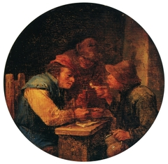 Drinkers in the tavern