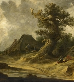 Dune Landscape with Hut and Blasted Oak
