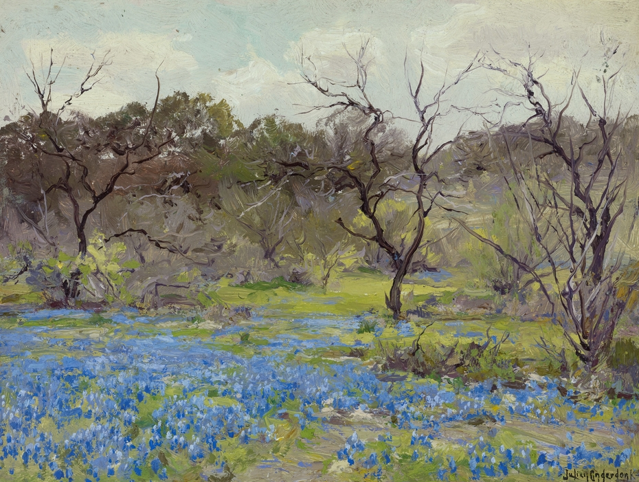 Early Spring—Bluebonnets and Mesquite