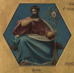 Esquisse pour l'église Saint François Xavier : Isaïe