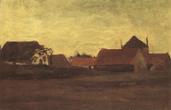 Twilight (Old farmhouses in Loosduinen)