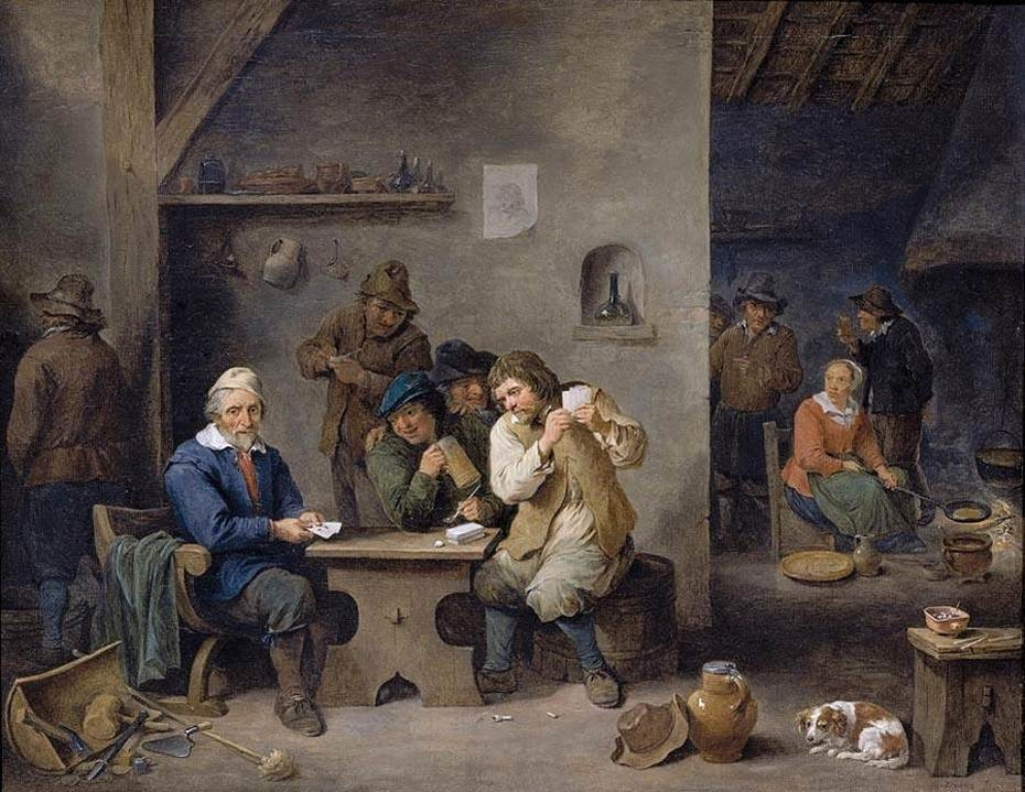 Figures Gambling in a Tavern