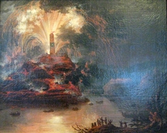 Fireworks during the Journey of Catherine II of Russia to Crimea