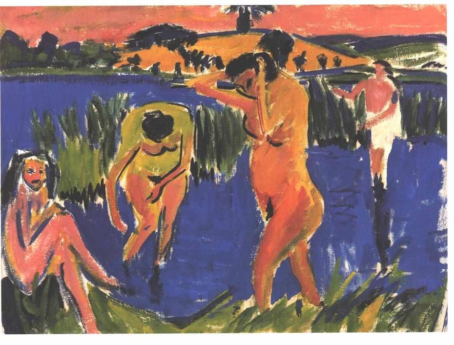 Four Bathers