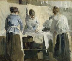 French Women Ironing