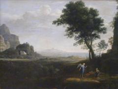 Hagar and Ismael in the desert