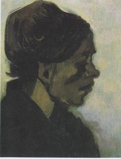Head of a Brabantian Peasant Woman with Dark Hood