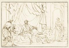 Herodes vermoedt dat zijn echtgenote Mariamne hem wil vergiftigen