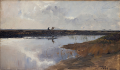 Hunters on the moor north of Skagen