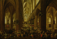 Interior of the Cathedral of Our Lady of Antwerp (Archduke Leopold Wilhelm received by the clergy)