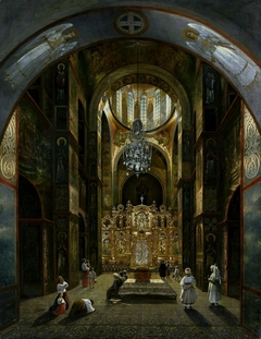 Interior of the Saint Sophia's Cathedral in Kiev.