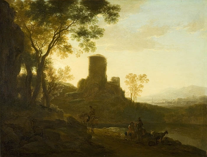 Italianate Landscape with Old Tower