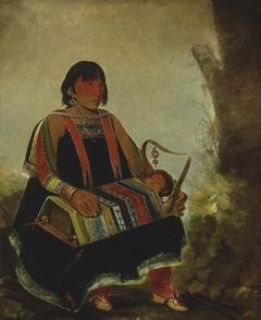 Jú-ah-kís-gaw, Woman With Her Child in a Cradle